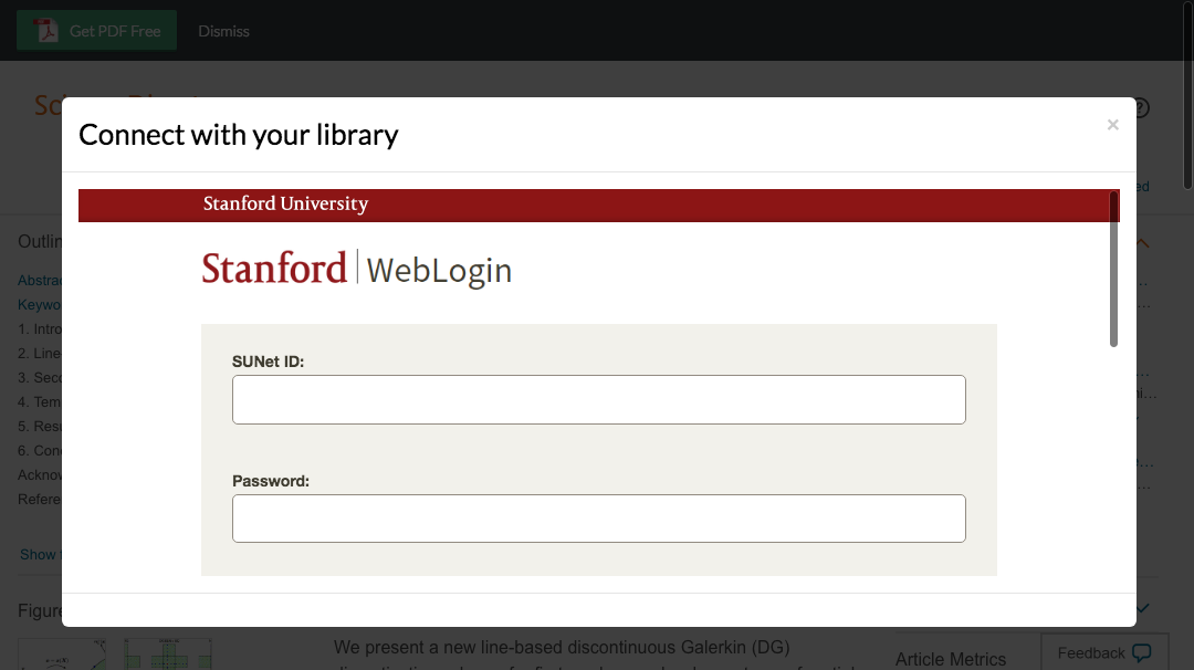 Enter Stanford University credentials to access journal subscriptions.