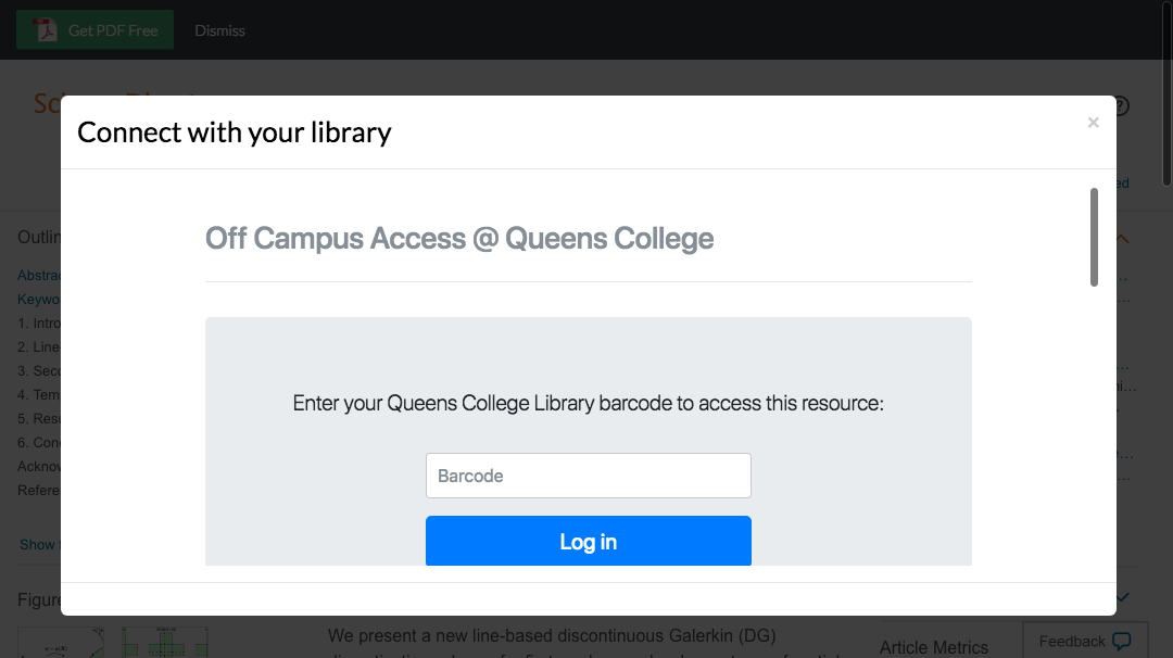 Enter Queens College, CUNY credentials to access journal subscriptions.