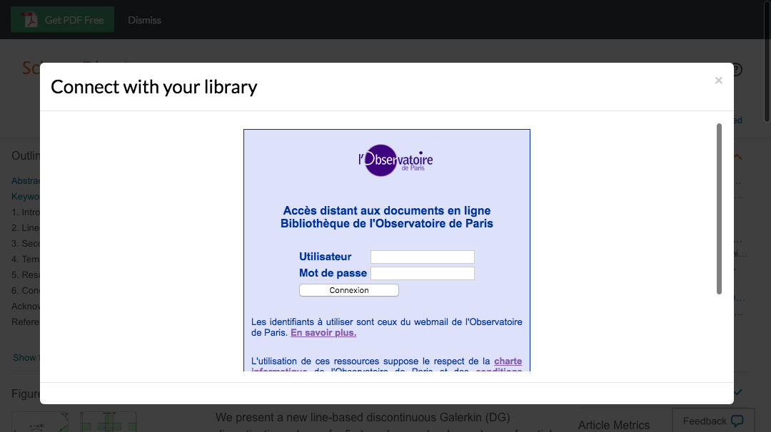 Enter Paris Observatory credentials to access journal subscriptions.