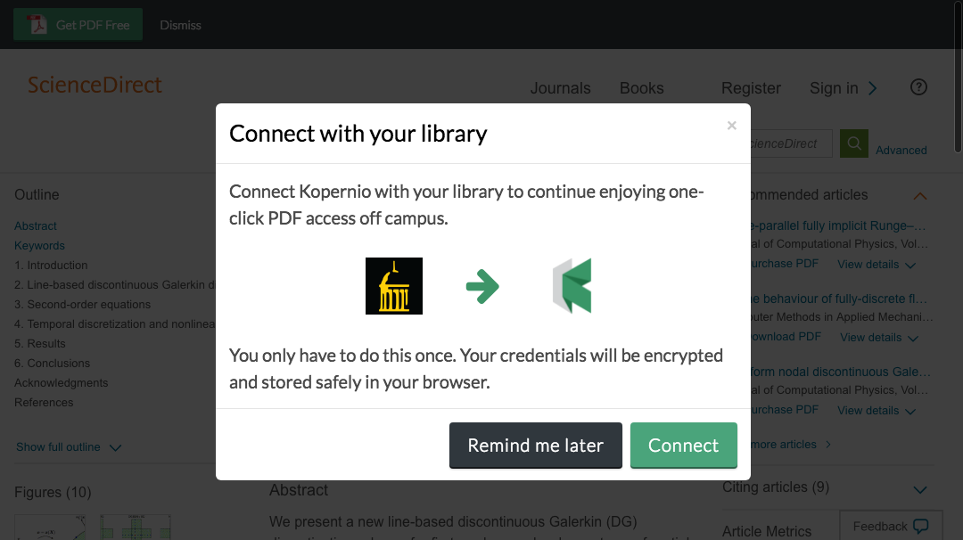 Connect to library prompt for off-campus access to University of Iowa e-resources.