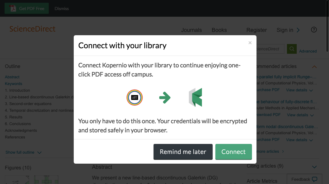 Connect to library prompt for off-campus access to Auckland University of Technology e-resources.