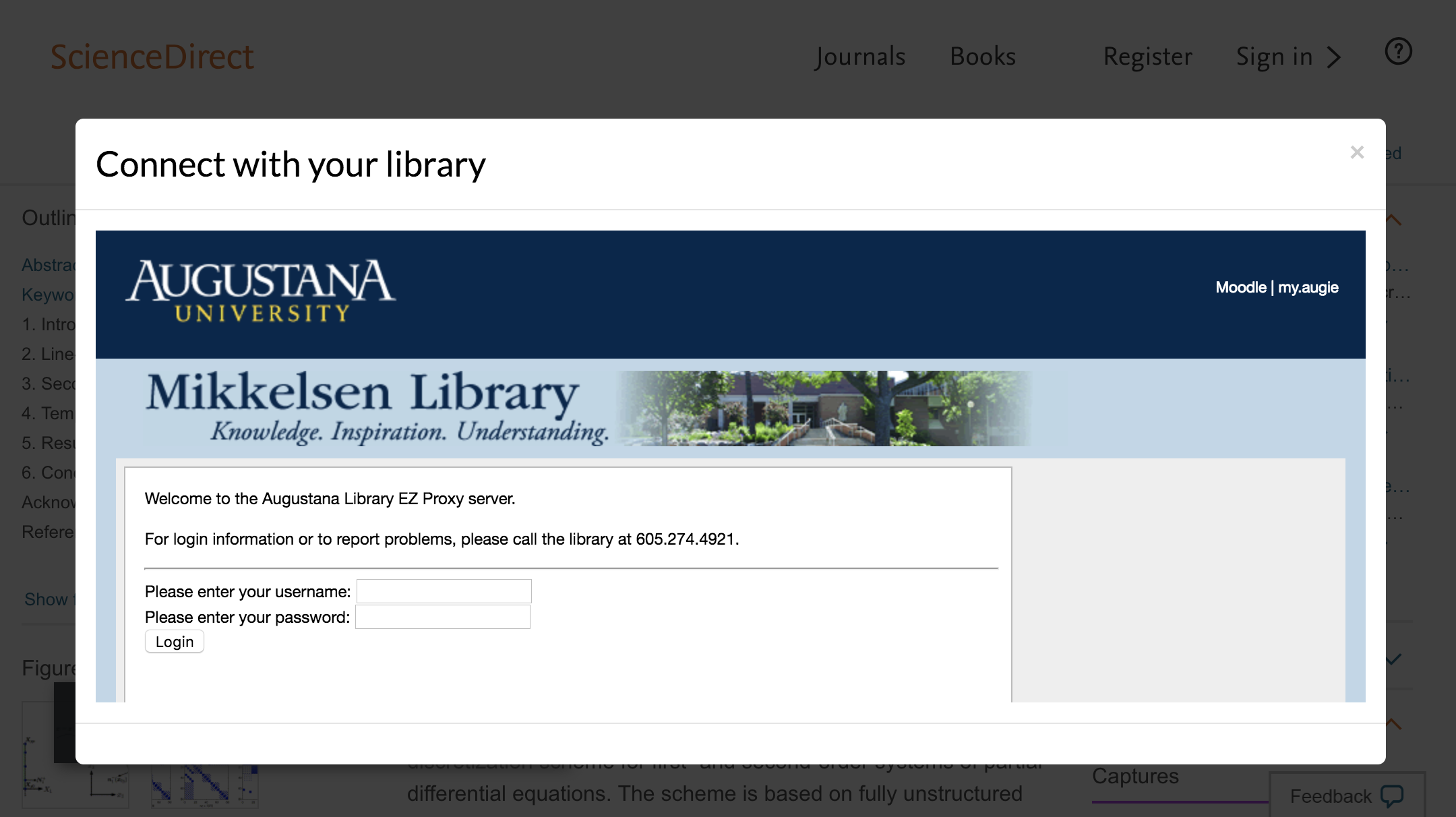 Enter Augustana University credentials to access journal subscriptions.