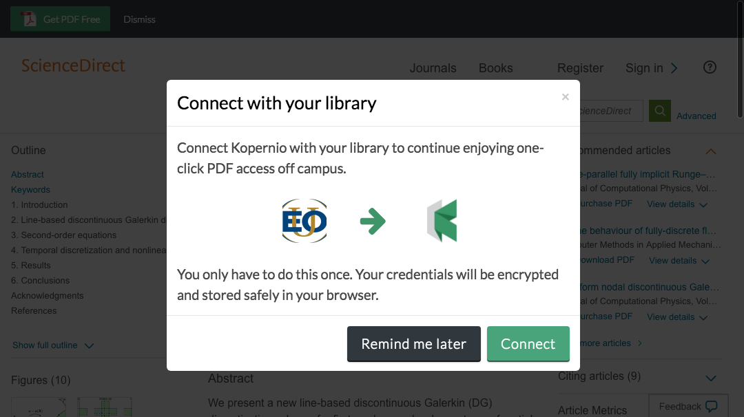 Connect to library prompt for off-campus access to Eastern Oregon University e-resources.