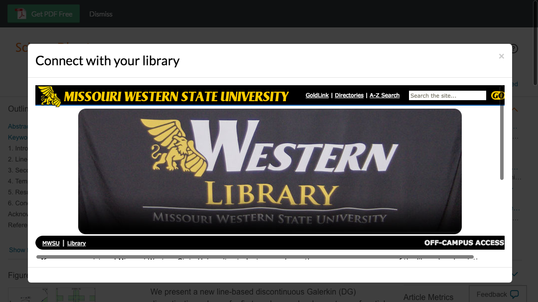Enter Missouri Western State University credentials to access journal subscriptions.