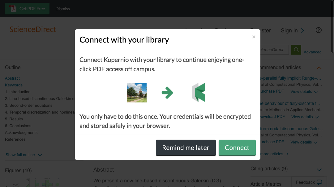 Connect to library prompt for off-campus access to Southern Illinois University Carbondale e-resources.