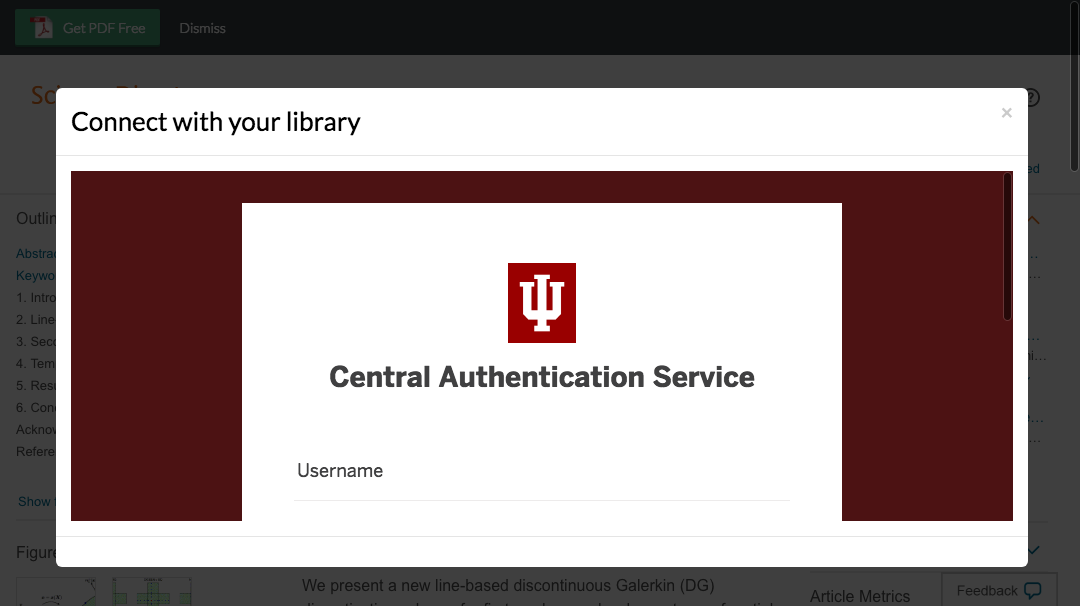Enter Indiana University Bloomington credentials to access journal subscriptions.