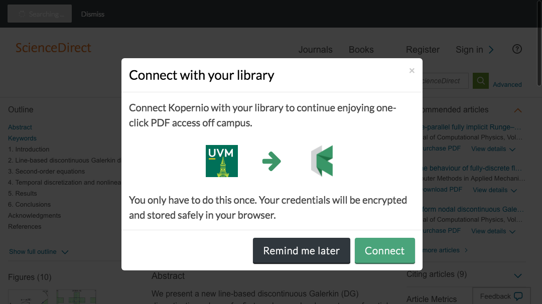 Connect to library prompt for off-campus access to Lake Champlain Sea Grant e-resources.